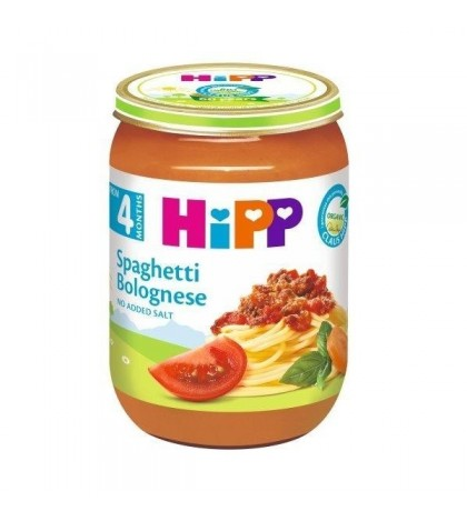 hipp spaghetti bolognese puree 190 g